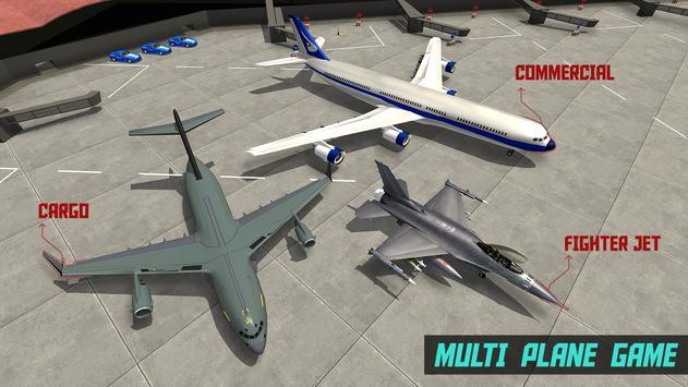 Air plane take off and landing Game poster
