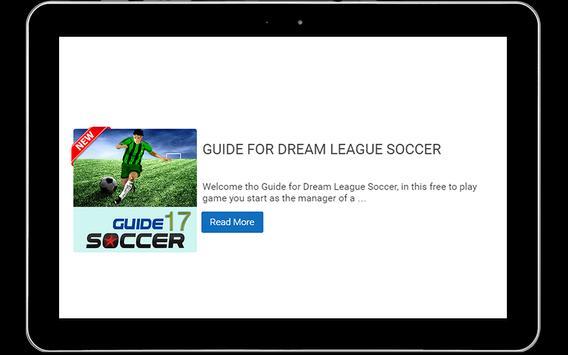 Guide for Dream League Soccer screenshot 1