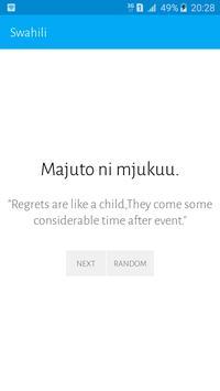 Swahili Proverbs apk screenshot
