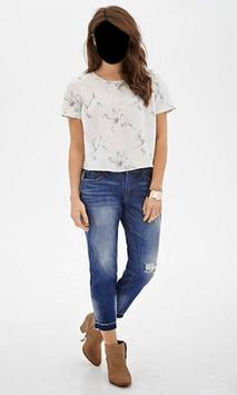 Beautiful Girl Jeans Style Photo Frames screenshot 2