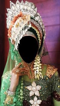 Hijab Wedding Fashion Photo Frames poster