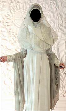 Hijab Wedding Style Photo Frames poster