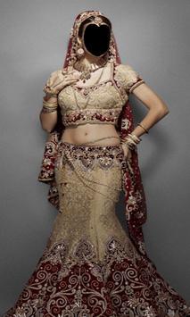 Indian Bride Dress Photo Frames poster