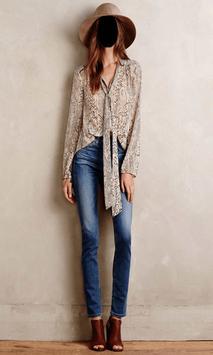 Lady Jeans Fashion Photo Frames screenshot 1