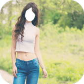 Lady Jeans Style Photo Frames icon