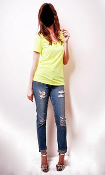 Lady Jeans Style Photo Frames screenshot 2