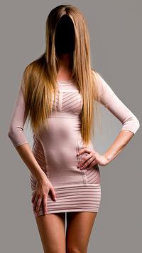 Lady Short Dress Fashion Photo Frames screenshot 1