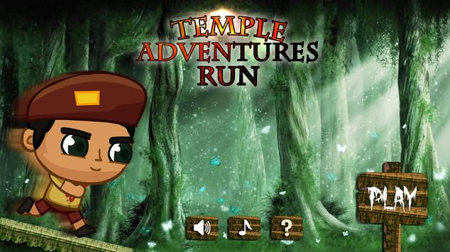 Temple adventures Run 2016 poster