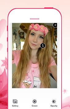 Flower crown photo editor screenshot 5