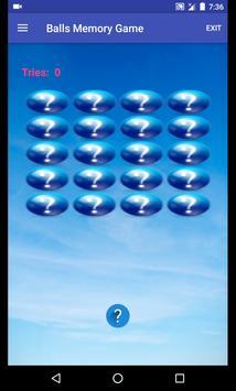 Balls Memory Game apk screenshot
