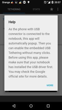 USB Tethering capture d'écran 5