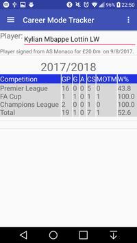 Career Mode Stat Tracker screenshot 3