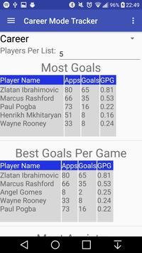 Career Mode Stat Tracker screenshot 1