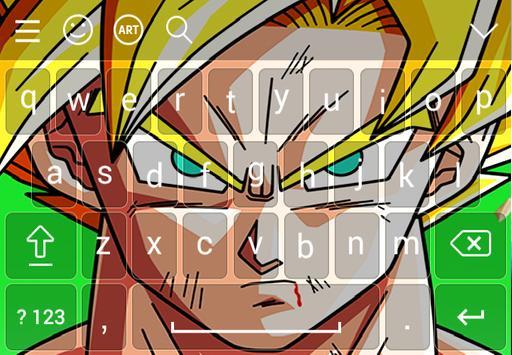 Goku Super Saiyan DBZ Keyboard poster