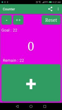 Digital Click Counter Free : Tally counter App poster