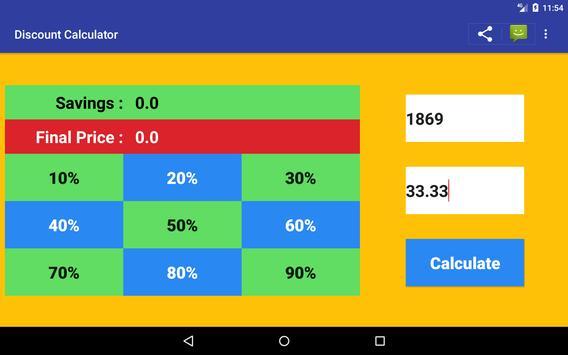 Sale Price Discount Calculator Free screenshot 9