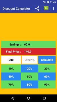 Sale Price Discount Calculator Free poster