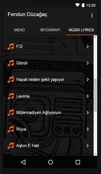 Feridun Düzağaç Müzik Lyrics screenshot 2