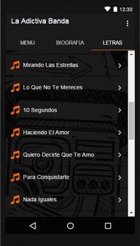 Adictiva Banda San José Letras screenshot 1