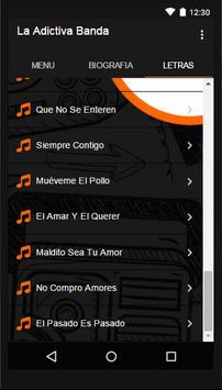 Adictiva Banda San José Letras screenshot 2