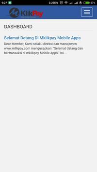 MKlik Payment apk screenshot