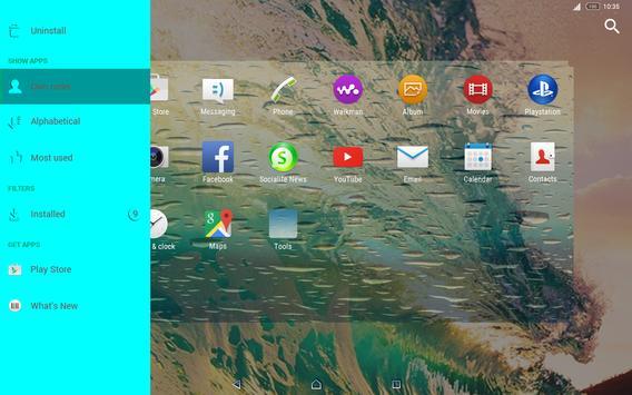 wave | Xperia™ Theme screenshot 9