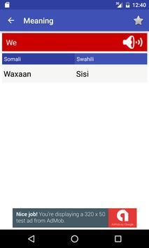 English to Somali and Swahili apk screenshot