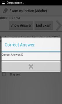 Exam collection (Adobe) screenshot 2