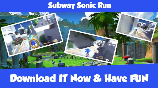 Subway Sonic Run screenshot 1