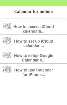 calendar for mobile poster