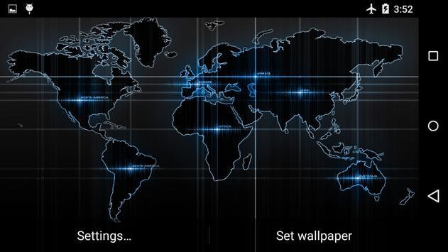 Black Map Live Wallpaper screenshot 1