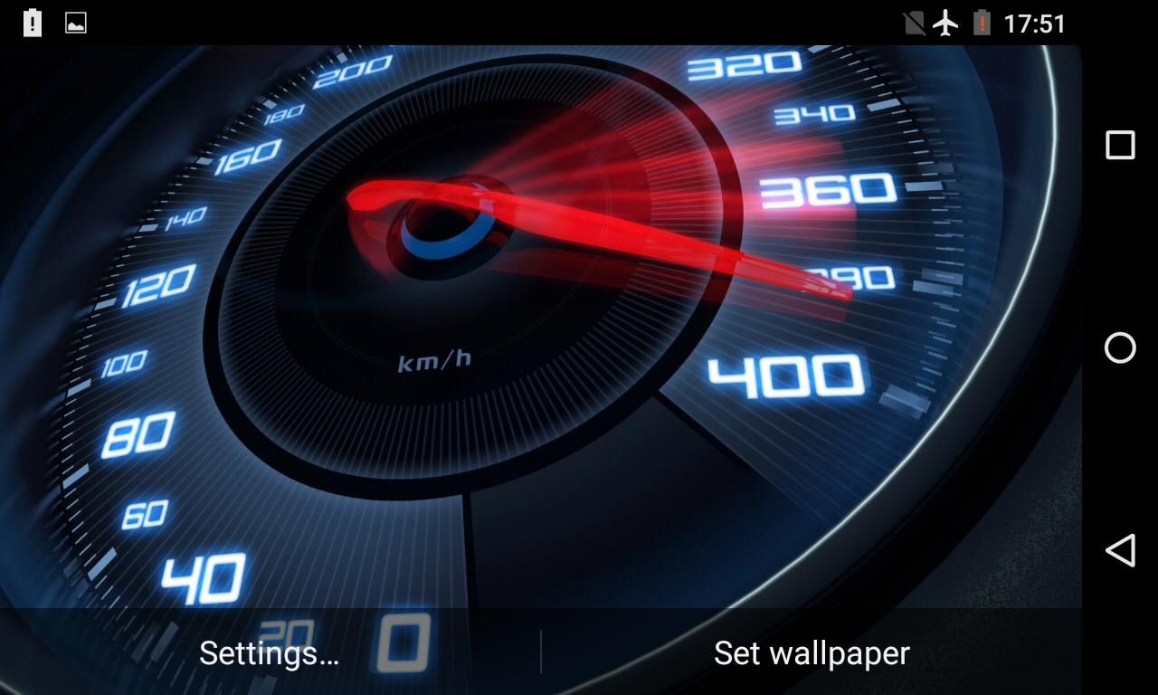 Speedometer Live Wallpaper 3D For Android APK Download
