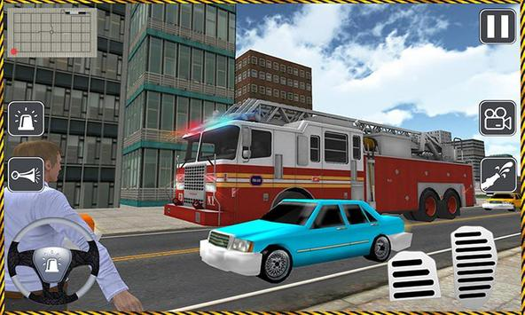 Fire Driver Truck City Rescue poster
