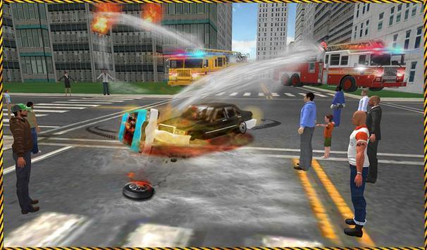 Fire Driver Truck City Rescue apk screenshot