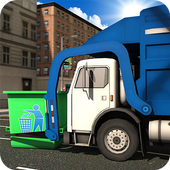 Road Garbage Dump Truck Driver icon