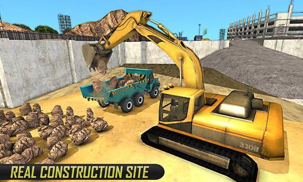 Real Cargo Construction Trucks poster
