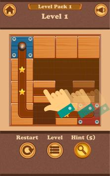 Slide Puzzle: Rolling the Ball (Unblock me) screenshot 1