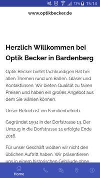Optik Becker Plakat