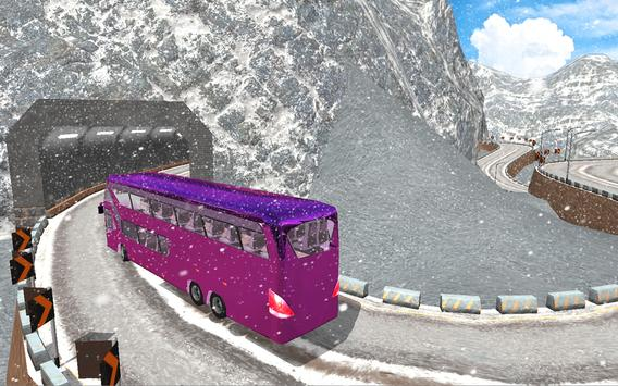 Snow Off-Road Hill Bus Driving screenshot 14