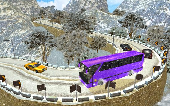 Snow Off-Road Hill Bus Driving screenshot 8