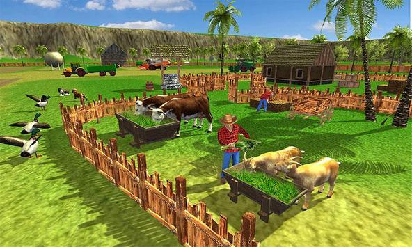 Virtual Farmer Tractor: Modern Farm Animals Game poster