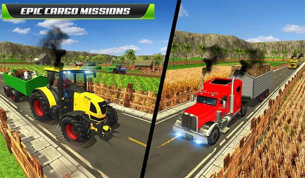 Virtual Farmer Tractor: Modern Farm Animals Game screenshot 12