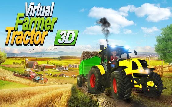 Virtual Farmer Tractor: Modern Farm Animals Game screenshot 9