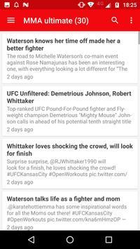 MMA News apk screenshot