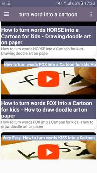 Turn word into a cartoon screenshot 1