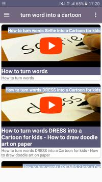 Turn word into a cartoon screenshot 4