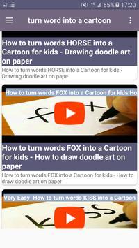 Turn word into a cartoon screenshot 6