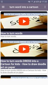 Turn word into a cartoon screenshot 9