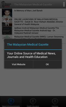 Malaysian Medical Gazette apk screenshot