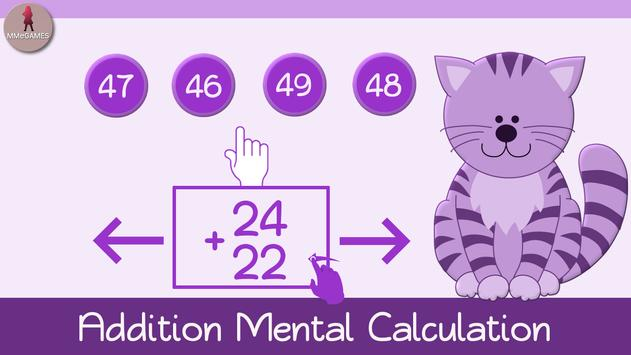 Addition Mental Calculation poster
